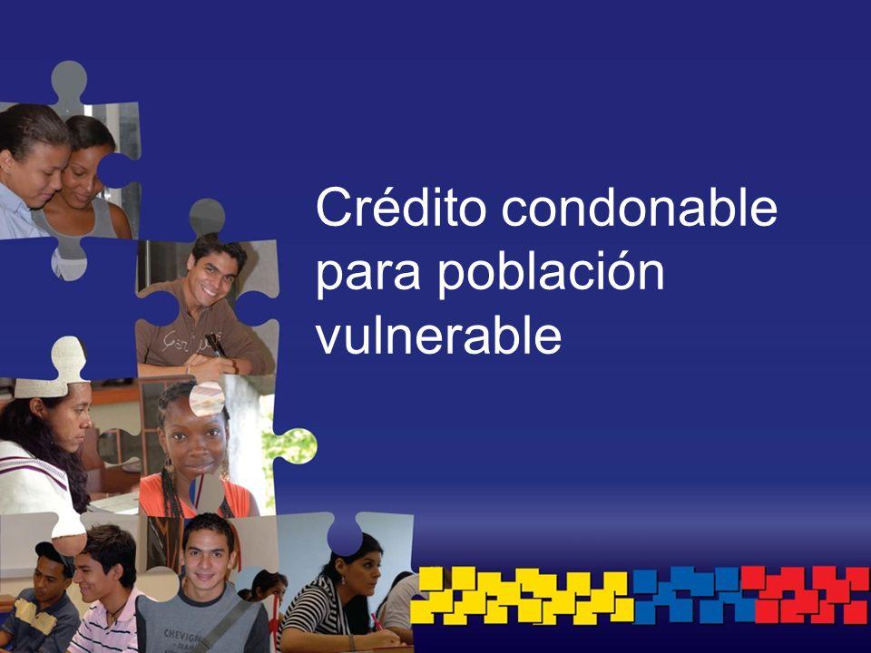 Crédito condonable para población vulnerable