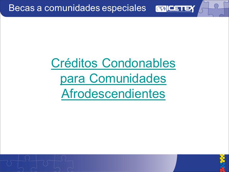 Créditos Condonables para Comunidades Afrodescendientes
