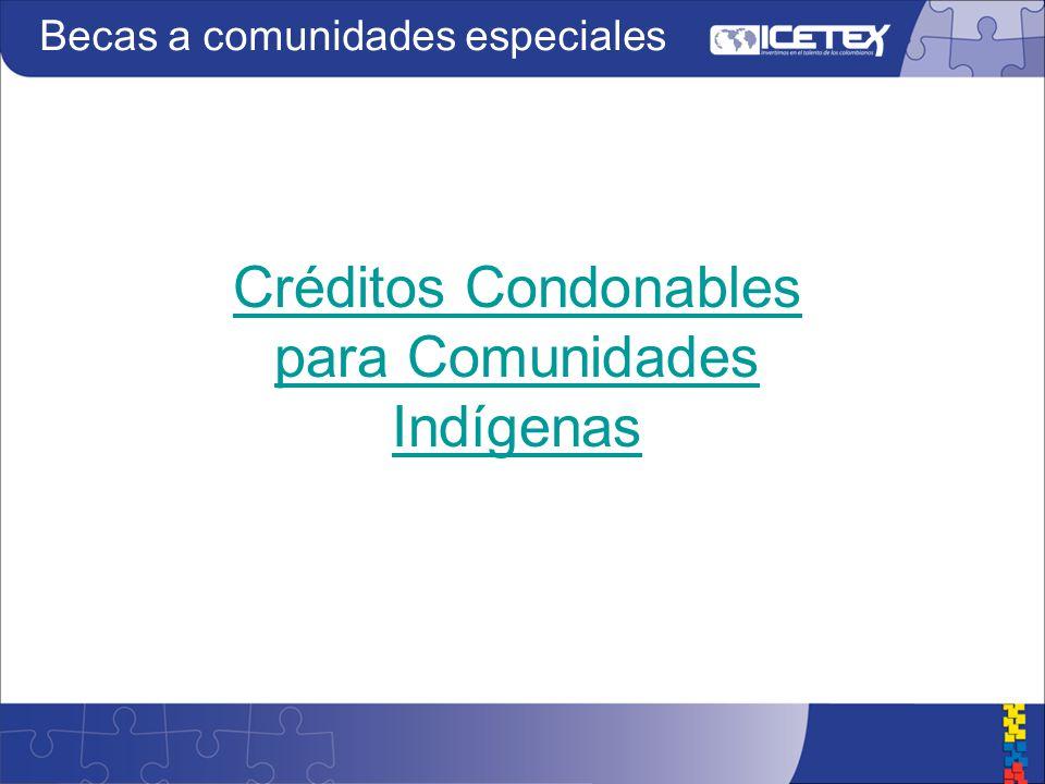 Créditos Condonables para Comunidades Indígenas