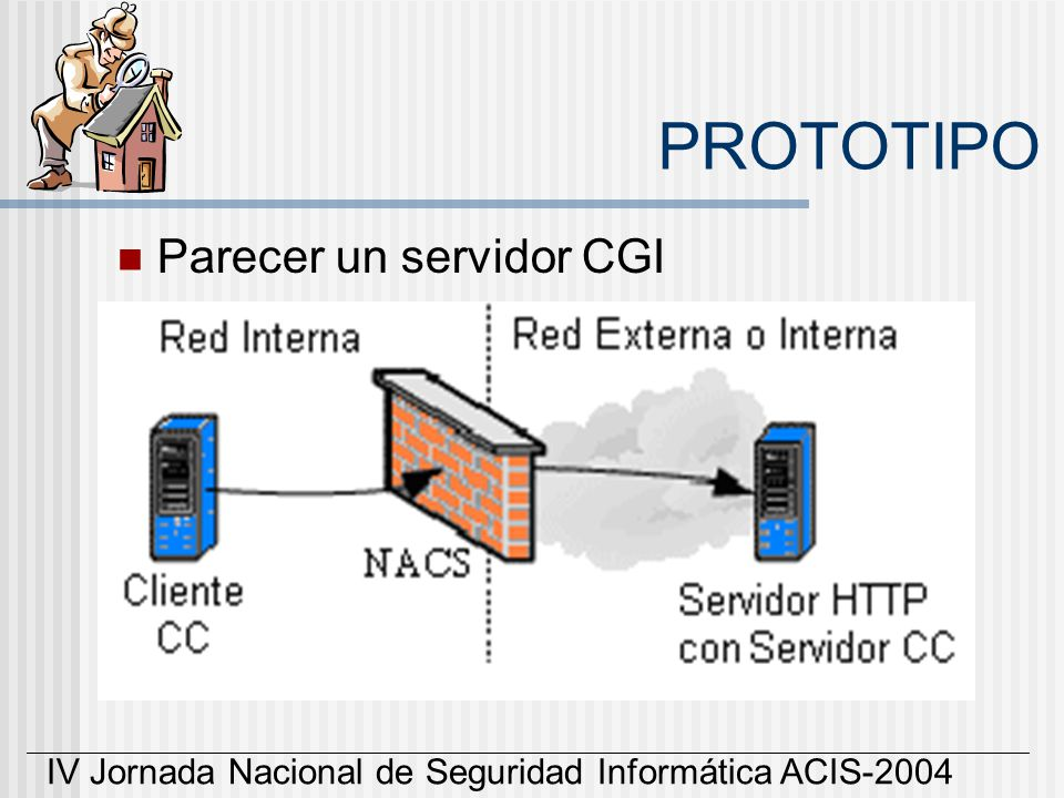 IV Jornada Nacional de Seguridad Informática ACIS-2004 PROTOTIPO Parecer un servidor CGI