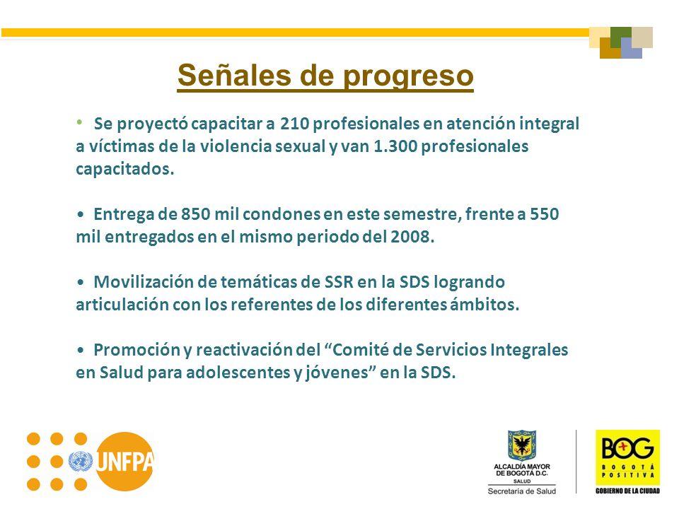 Señales de progreso Se proyectó capacitar a 210 profesionales en atención integral a víctimas de la violencia sexual y van 1.300 profesionales capacit