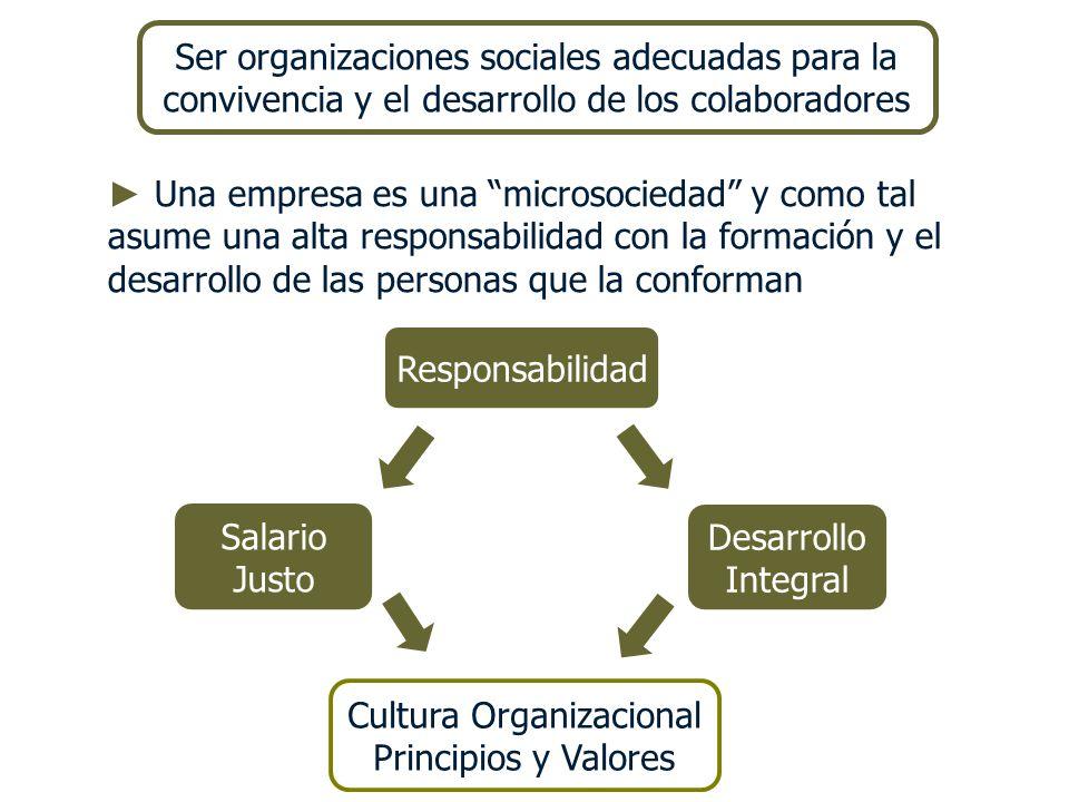 Una empresa es una microsociedad y como tal asume una alta responsabilidad con la formación y el desarrollo de las personas que la conforman Responsab