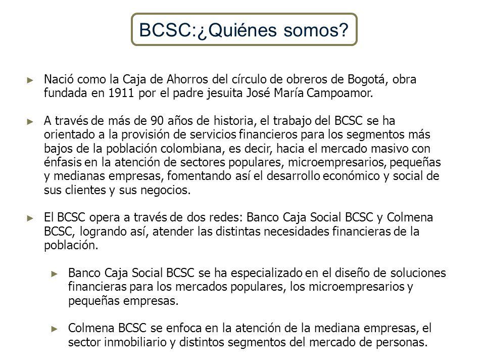 Nació como la Caja de Ahorros del círculo de obreros de Bogotá, obra fundada en 1911 por el padre jesuita José María Campoamor. A través de más de 90