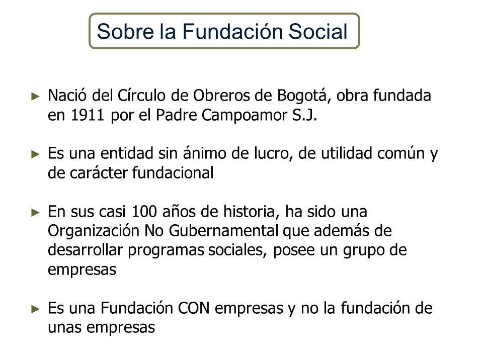 Nació del Círculo de Obreros de Bogotá, obra fundada en 1911 por el Padre Campoamor S.J. Es una entidad sin ánimo de lucro, de utilidad común y de car
