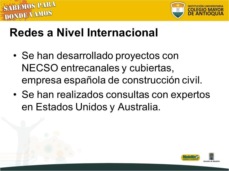 Redes a Nivel Internacional Se han desarrollado proyectos con NECSO entrecanales y cubiertas, empresa española de construcción civil.