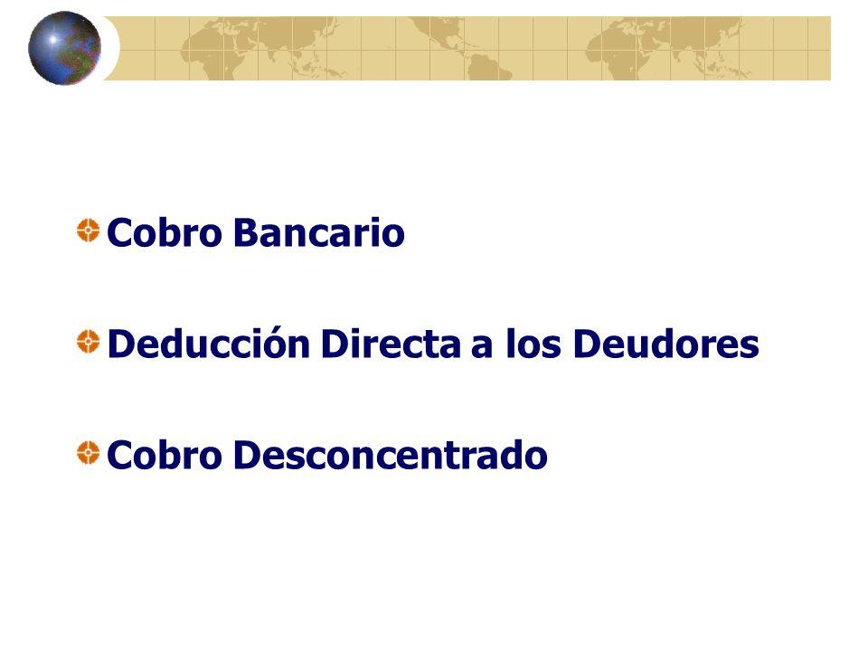 Cobro Bancario Deducción Directa a los Deudores Cobro Desconcentrado