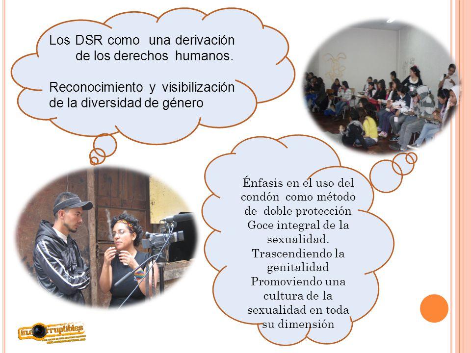 Los DSR como una derivación de los derechos humanos. Reconocimiento y visibilización de la diversidad de género Énfasis en el uso del condón como méto