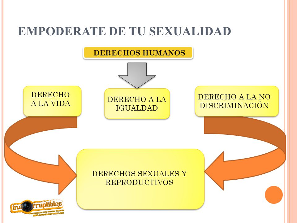 EMPODERATE DE TU SEXUALIDAD DERECHOS HUMANOS DERECHO A LA VIDA DERECHO A LA IGUALDAD DERECHO A LA NO DISCRIMINACIÓN DERECHOS SEXUALES Y REPRODUCTIVOS