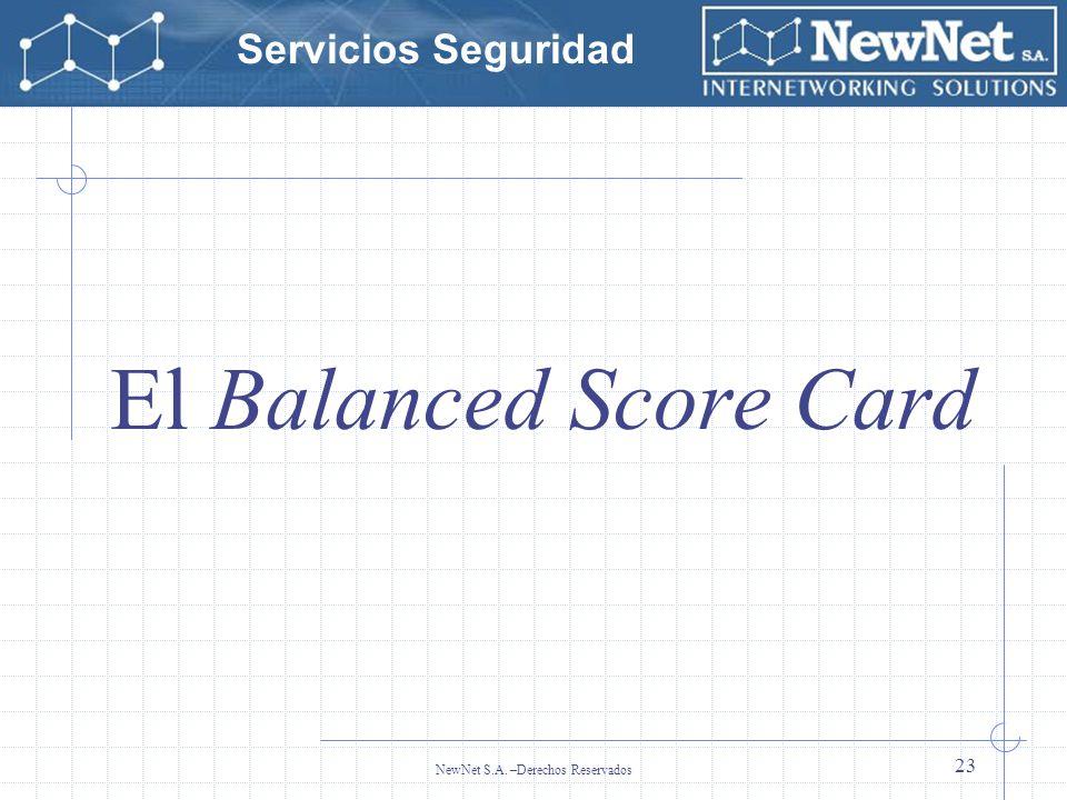 Servicios Seguridad NewNet S.A. –Derechos Reservados 23 El Balanced Score Card