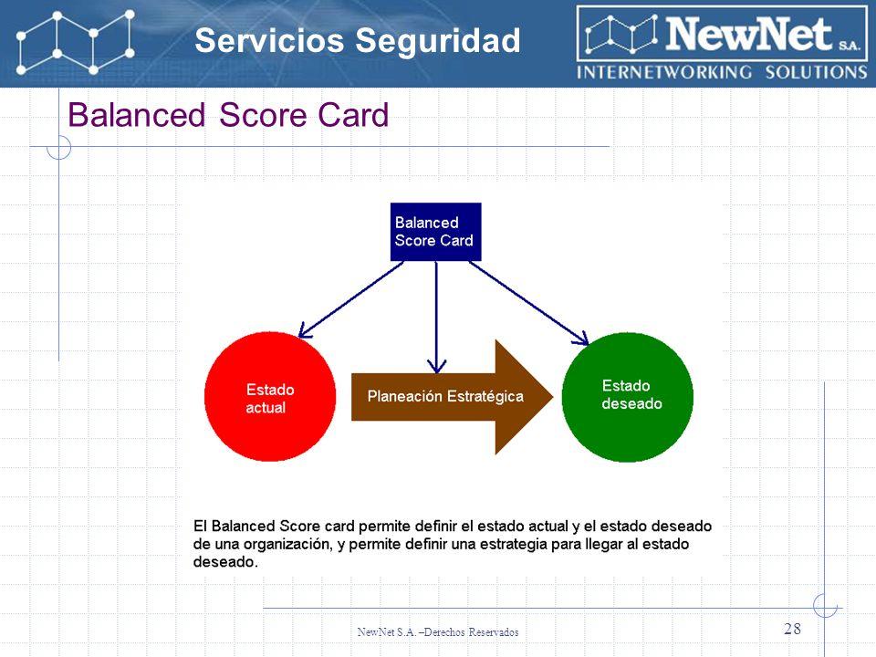 Servicios Seguridad NewNet S.A. –Derechos Reservados 28 Balanced Score Card