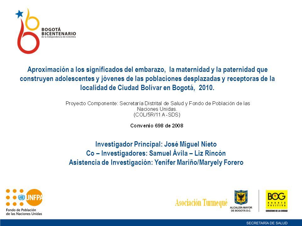 Investigador Principal: José Miguel Nieto Co – Investigadores: Samuel Ávila – Liz Rincón Asistencia de Investigación: Yenifer Mariño/Maryely Forero Ap