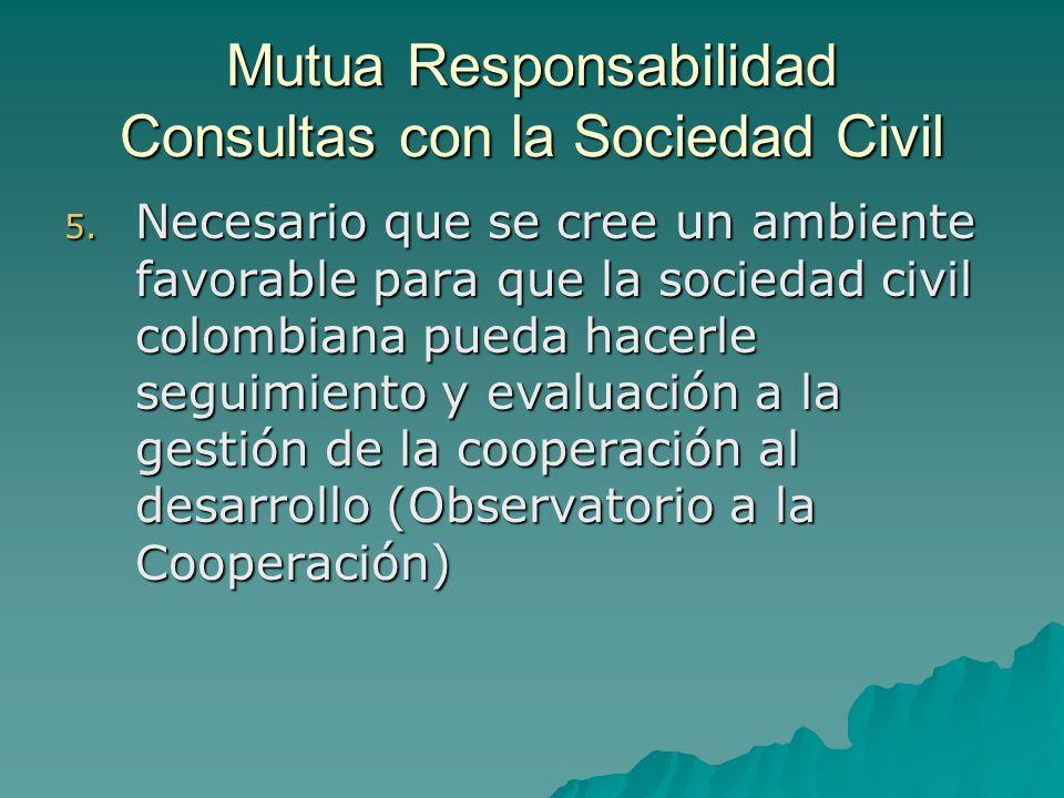 Mutua Responsabilidad Consultas con la Sociedad Civil 5.