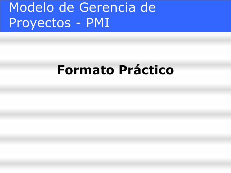 Modelo de Gerencia de Proyectos - PMI Formato Práctico