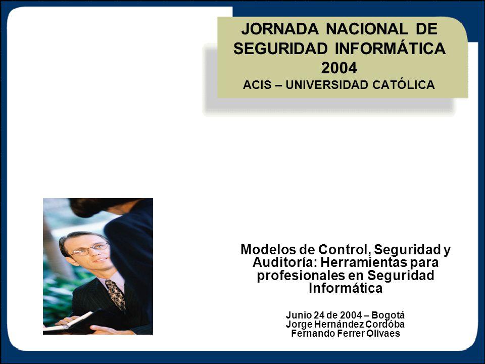 Universidad Católica 12 Control Gerencial - Gobierno Corporativo (OCDE, Basel II, Sarbanes-Oxley, HIPAA, PIPEDA, GLBA, …) Control Gerencial - Gobierno Corporativo (OCDE, Basel II, Sarbanes-Oxley, HIPAA, PIPEDA, GLBA, …) Tecnología Informática (Gobierno de TI, COBIT, Net Centric, CMM/SW, CMM-I, MAGERIT…) Tecnología Informática (Gobierno de TI, COBIT, Net Centric, CMM/SW, CMM-I, MAGERIT…) Control Interno (COSO, CoCo, Cadbury, …) Control Interno (COSO, CoCo, Cadbury, …) Seguridad Informática (Gobierno de Seguridad, ISO-17799, BS-7799-2, NIST, Octave, …) Seguridad Informática (Gobierno de Seguridad, ISO-17799, BS-7799-2, NIST, Octave, …) Apoyo Risk Management [AS/NZS:4360/1999, MAGERIT, MGs] Control-Self Assessment Project Management Quality Assurance … Apoyo Risk Management [AS/NZS:4360/1999, MAGERIT, MGs] Control-Self Assessment Project Management Quality Assurance … 02 Modelos de Control y Alineamiento