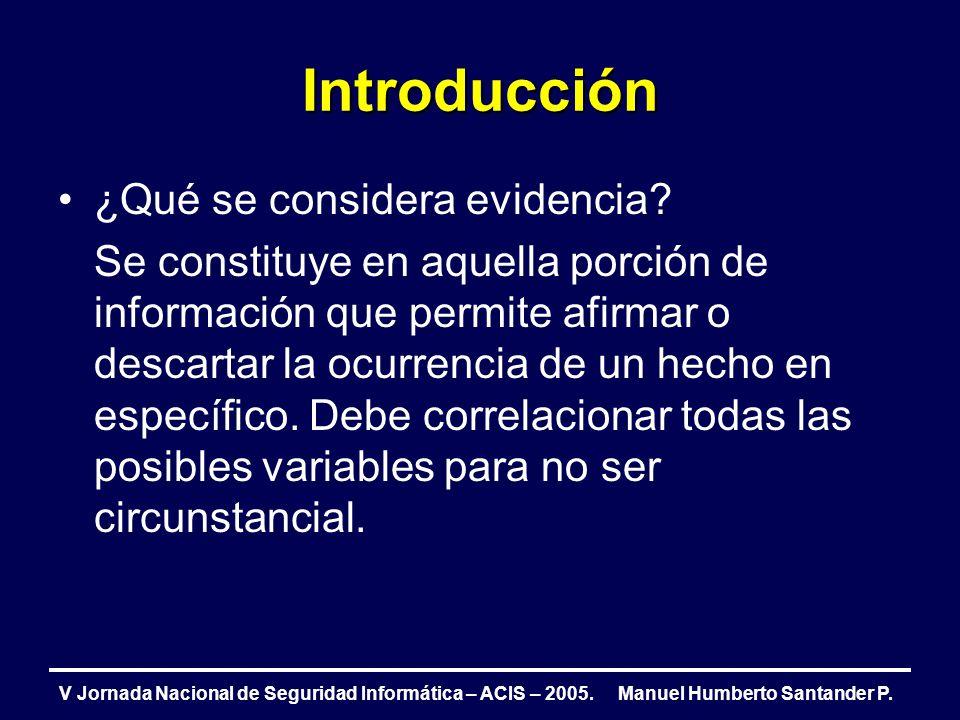 V Jornada Nacional de Seguridad Informática – ACIS – 2005.