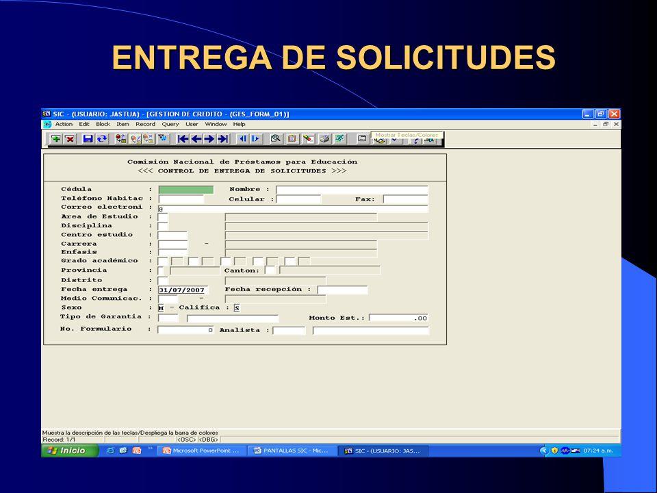ANALISIS DE SOLICITUD A. Deudor