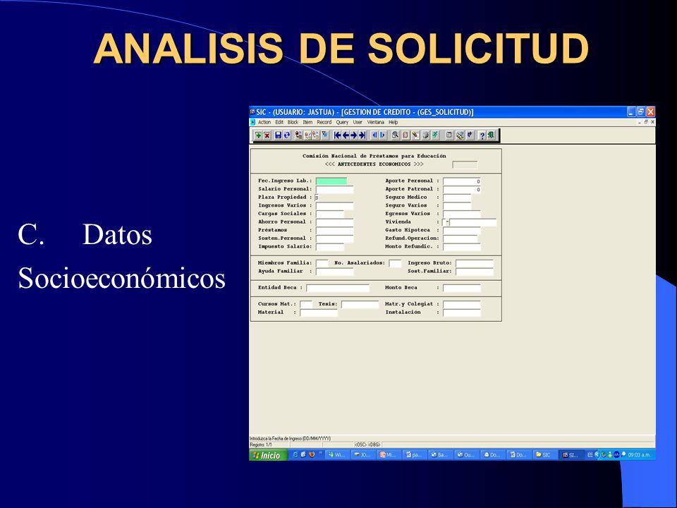 D. Proyecto Académico ANALISIS DE SOLICITUD