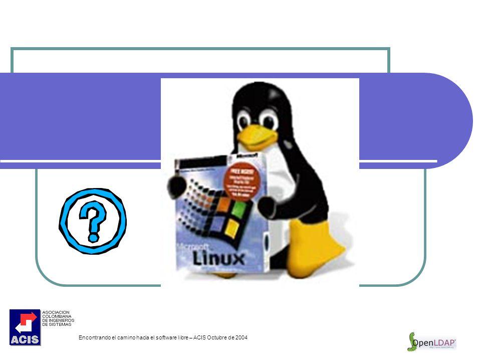 Encontrando el camino hacia el software libre – ACIS Octubre de 2004