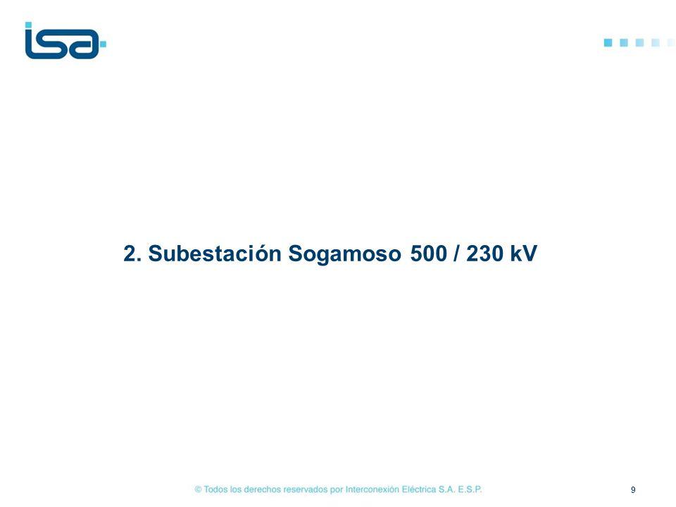 Localización general LT Sogamoso - Guatiguará a 230 kV 20 SE Guatiguará Línea Sogamoso – Guatiguará (56 km) 2C 230 kV