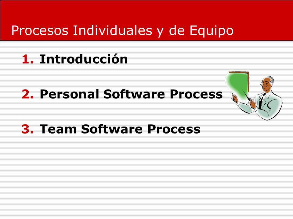 1.Introducción PSP/TSP: Como moverse de la teoría a la práctica (What To How).