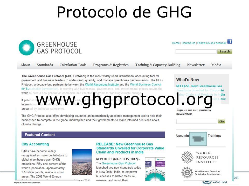www.ghgprotocol.org Protocolo de GHG