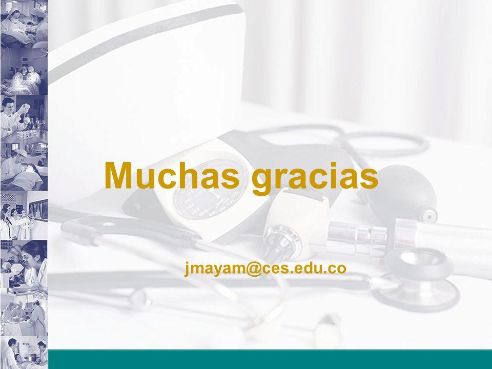 Muchas gracias jmayam@ces.edu.co