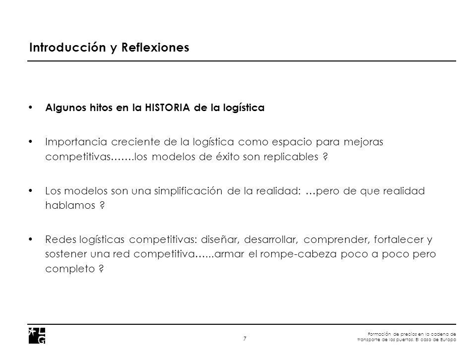 A D V A N C E D L O G I S T I C S G R O U P Barcelona - Madrid – Mexico DF – Sao Paulo – Lima - Caracas Formación de precios en la cadena de transporte de los puertos.