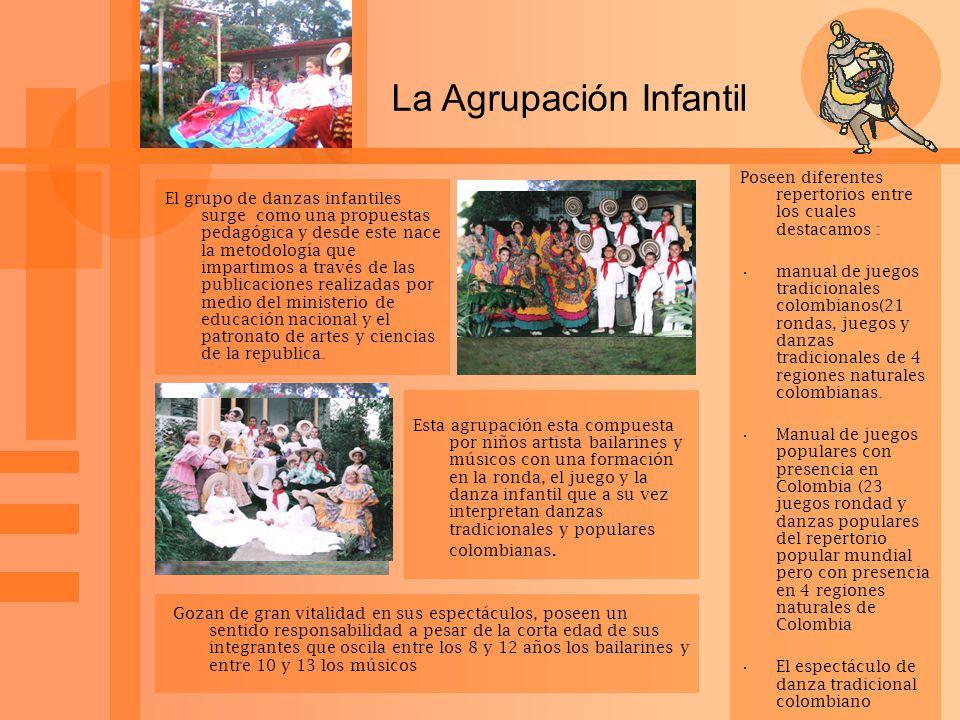 La Agrupación Infantil El grupo de danzas infantiles surge como una propuestas pedagógica y desde este nace la metodología que impartimos a través de