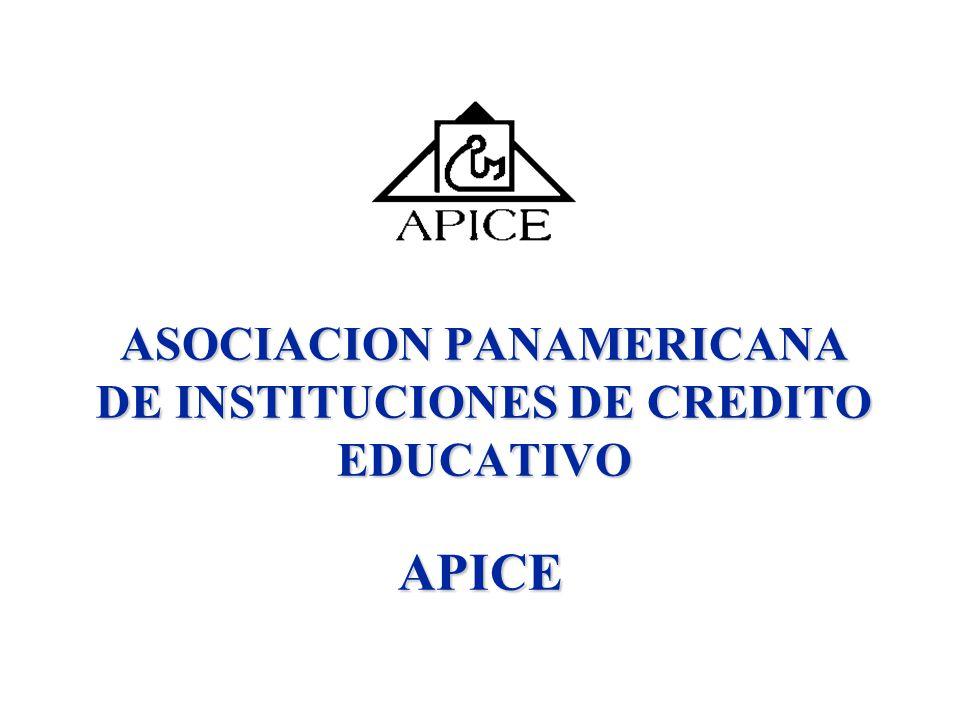ASOCIACION PANAMERICANA DE INSTITUCIONES DE CREDITO EDUCATIVO APICE