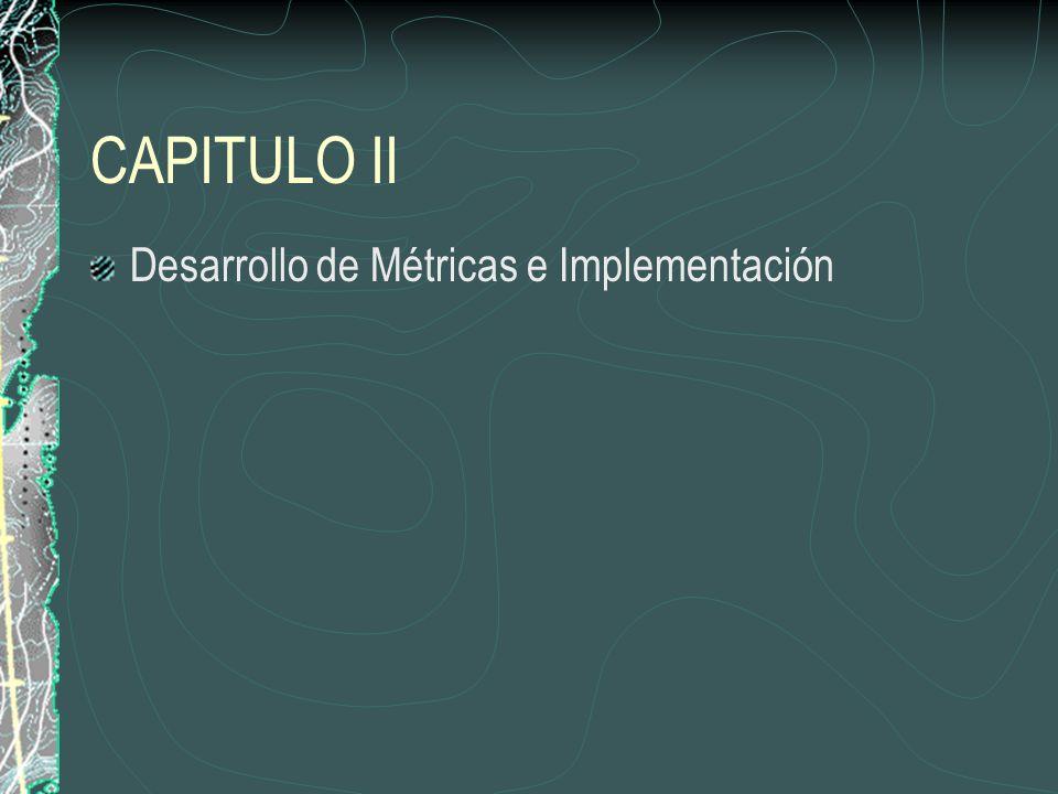 CAPITULO II Desarrollo de Métricas e Implementación