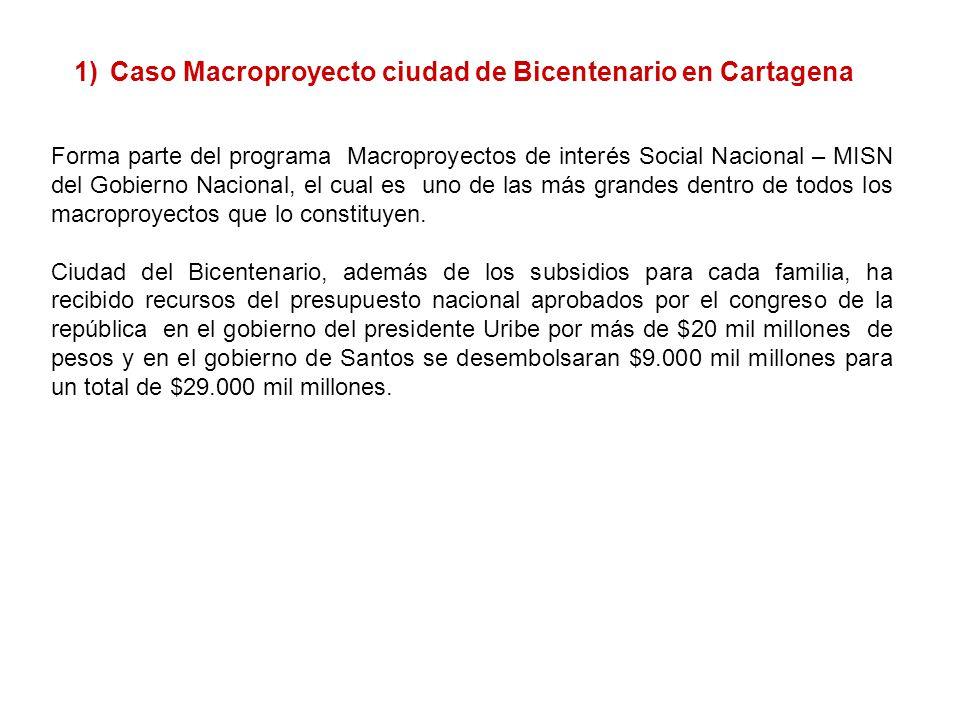 Forma parte del programa Macroproyectos de interés Social Nacional – MISN del Gobierno Nacional, el cual es uno de las más grandes dentro de todos los macroproyectos que lo constituyen.