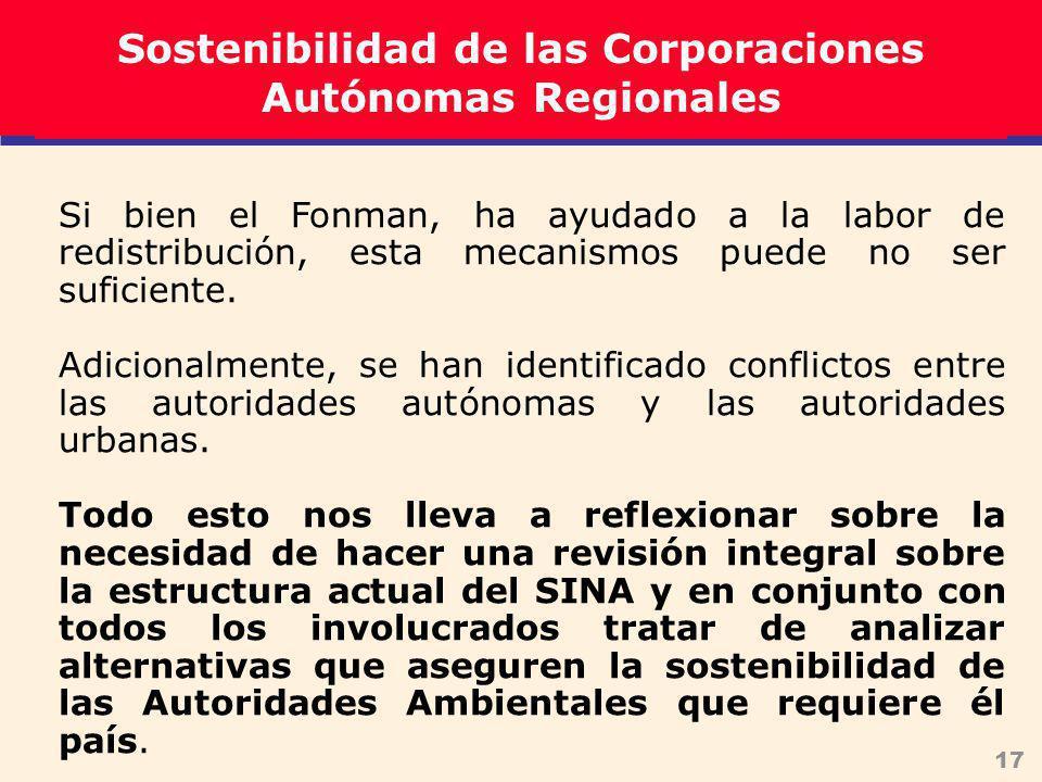 17 Si bien el Fonman, ha ayudado a la labor de redistribución, esta mecanismos puede no ser suficiente.