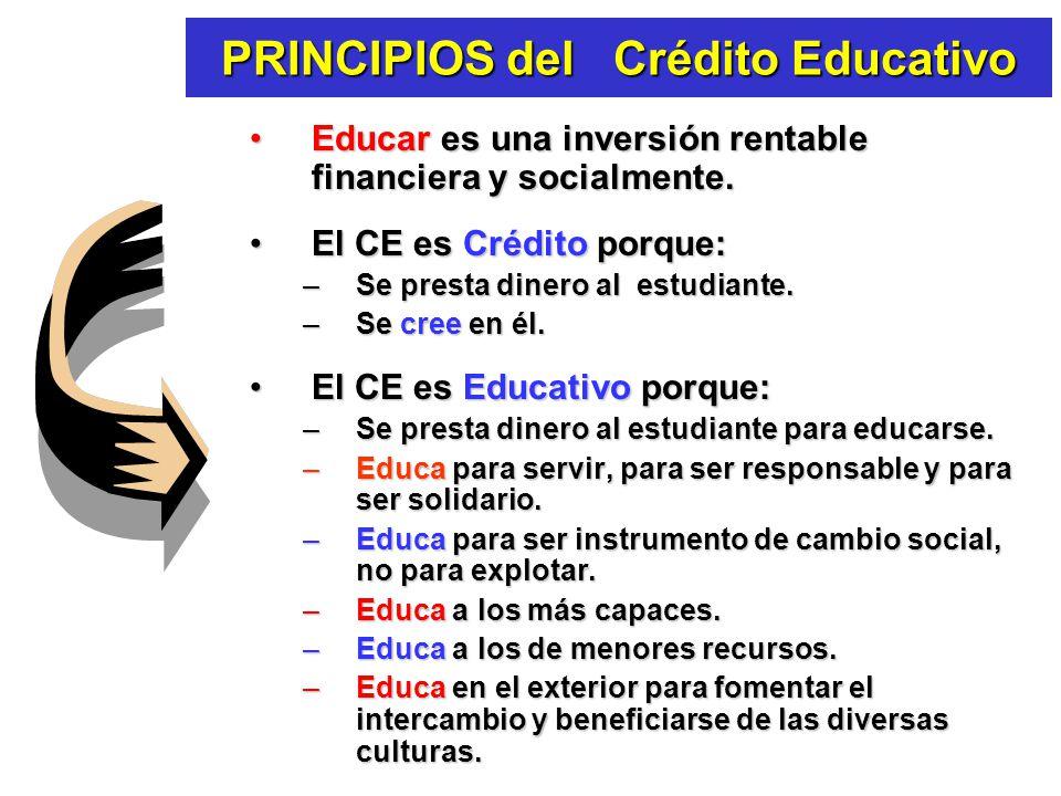 QUÉ ES el Crédito Educativo ? Es un mecanismo económico y social, de carácter rotatorio.Es un mecanismo económico y social, de carácter rotatorio. Con