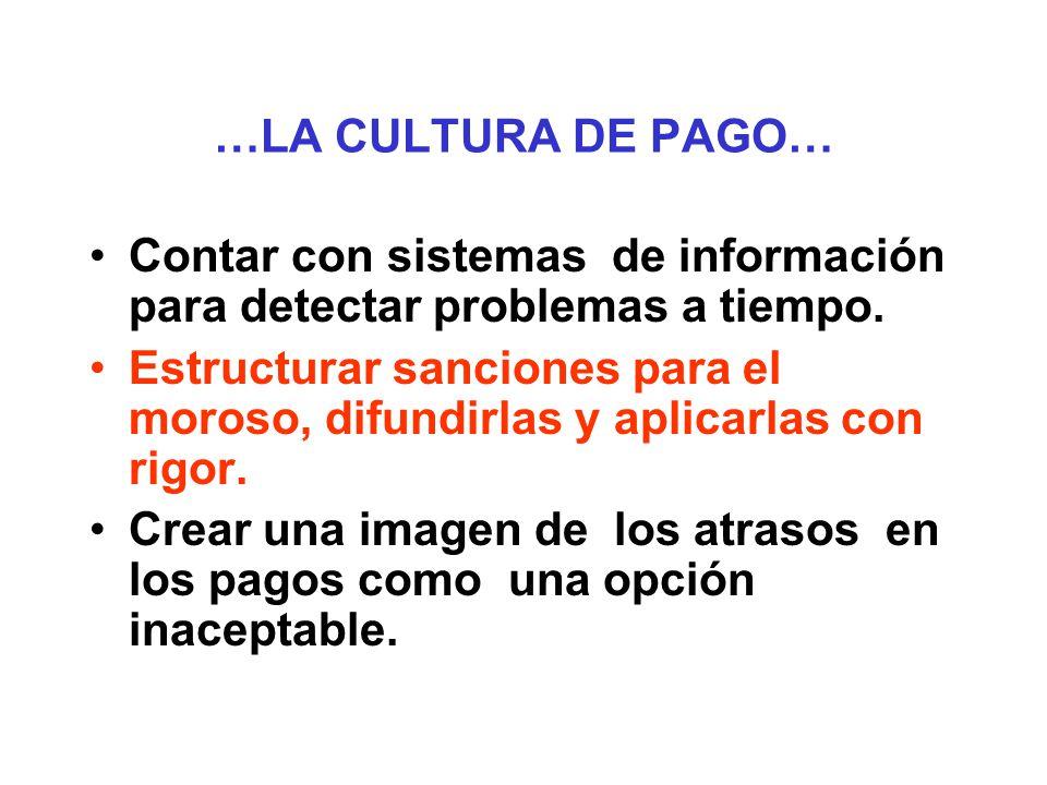 …LA CULTURA DE PAGO… Hacer seguimiento al estudiante, conocer su desempeño y mantener sus datos. Trabajar en alianza con otras entidades. Establecer f