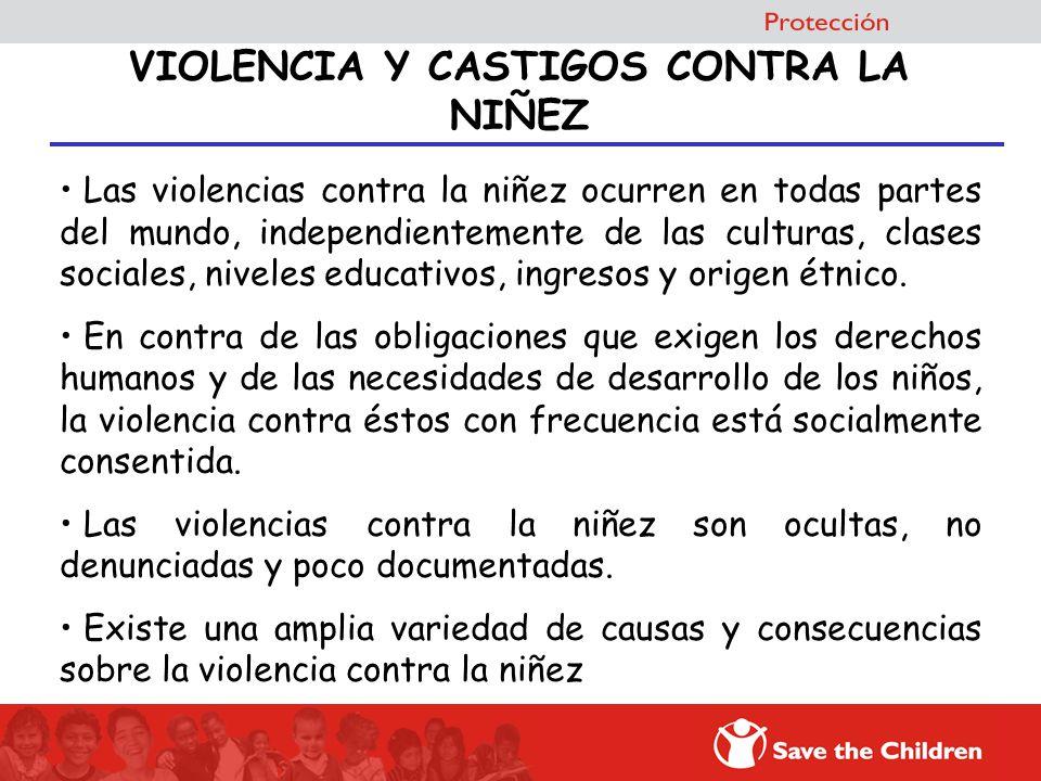 Las violencias contra la niñez ocurren en todas partes del mundo, independientemente de las culturas, clases sociales, niveles educativos, ingresos y