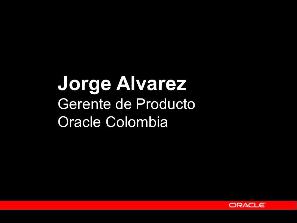 Jorge Alvarez Gerente de Producto Oracle Colombia