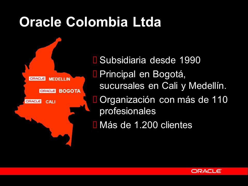 Subsidiaria desde 1990 Principal en Bogotá, sucursales en Cali y Medellín. Organización con más de 110 profesionales Más de 1.200 clientes MEDELLIN BO