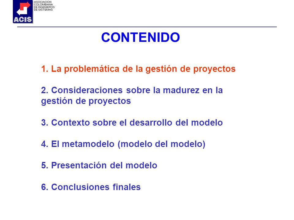 1. La problemática de la gestión de proyectos 2. Consideraciones sobre la madurez en la gestión de proyectos 3. Contexto sobre el desarrollo del model