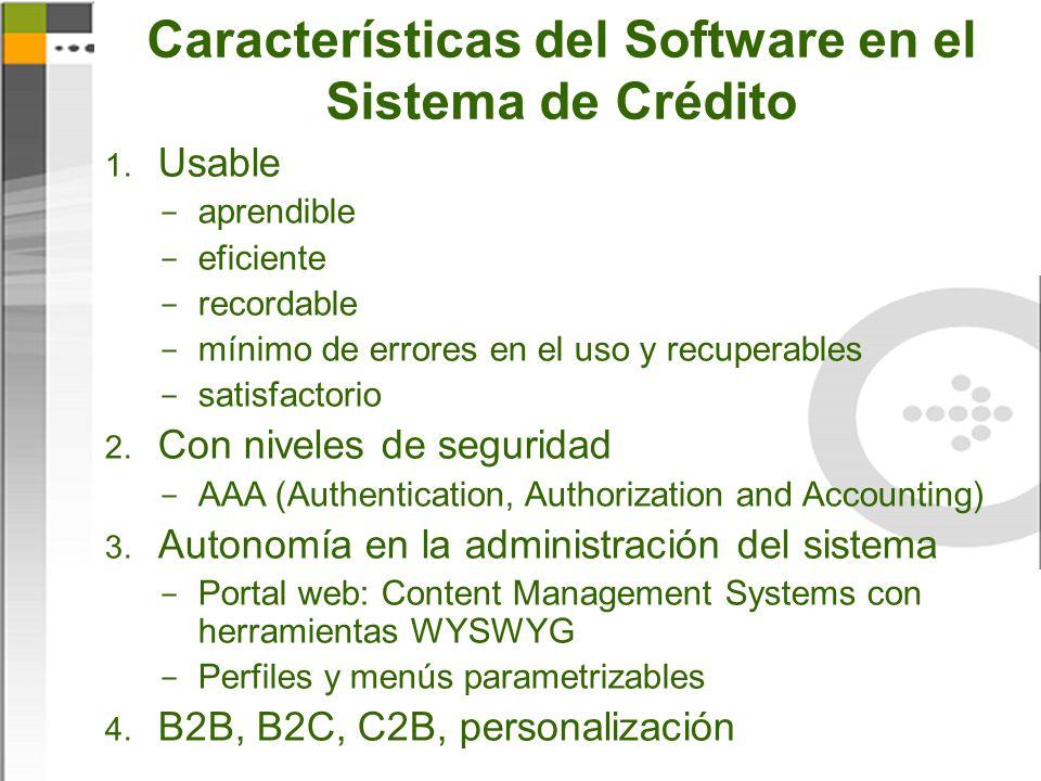 Características del Software en el Sistema de Crédito 1.