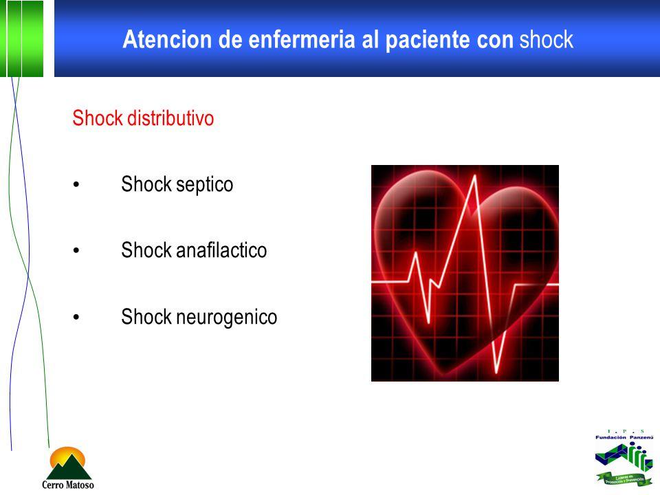 Atencion de enfermeria al paciente con shock Shock distributivo Shock septico Shock anafilactico Shock neurogenico
