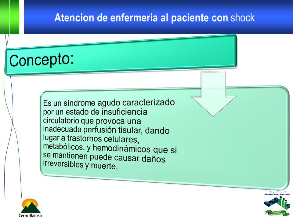 Atencion de enfermeria al paciente con shock Cuidados especificos de enfermería shock distributivo Shock séptico Drogas vasoactivas.