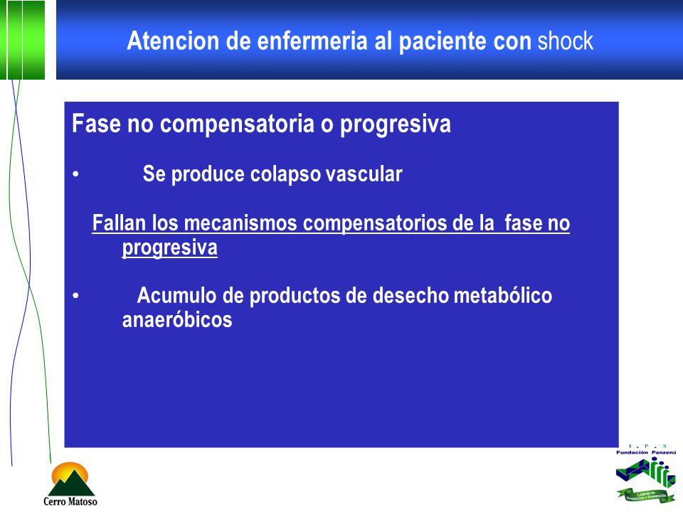 Atencion de enfermeria al paciente con shock Shock distributivo neurogenico Perdida del tono simpático secundario a una lesión en medula espinal, o a anestesia medular o una depresión del centro vasomotor cerebral tras un TCE