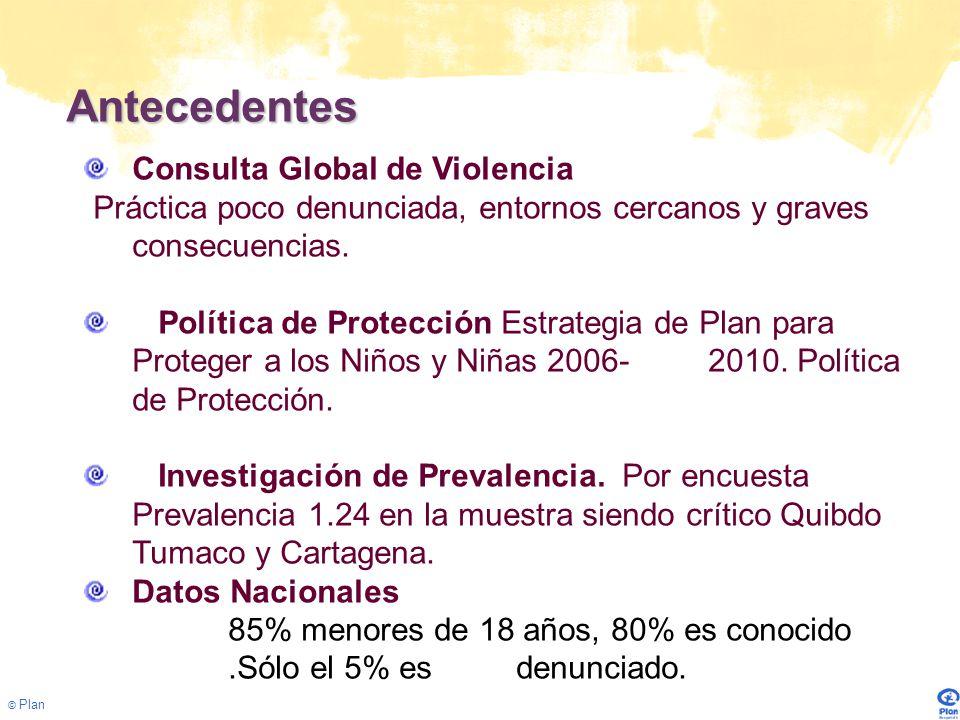 © Plan Puntos de Partida La violencia sexual afecta a todos los sectores sociales Generalmente se produce en los entornos cercanos de niños, niñas y adolescentes.