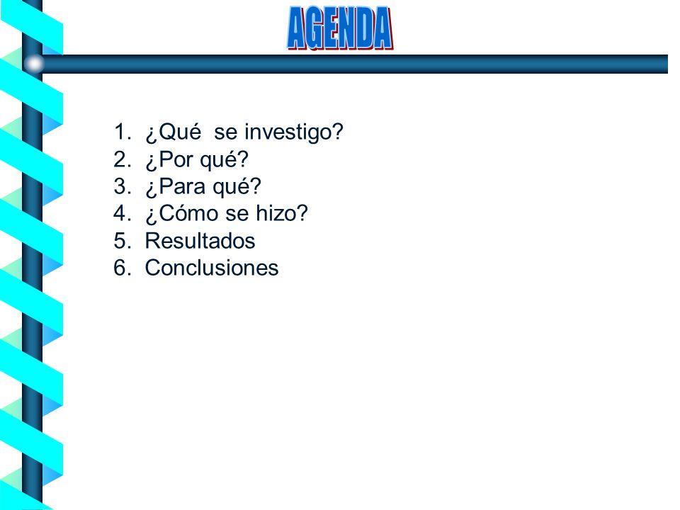 Proceso de Concienciación en Seguridad de la Información - Noviembre 2004- 1. ¿Qué se investigo? 2. ¿Por qué? 3. ¿Para qué? 4. ¿Cómo se hizo? 5. Resul