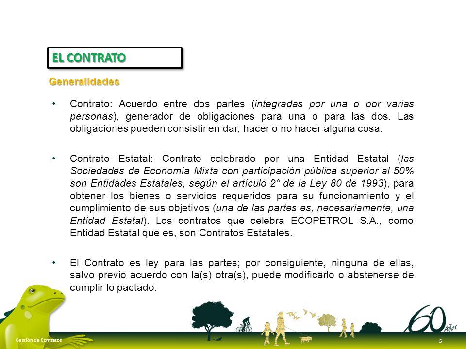 Los contratos de ECOPETROL S.A., se perfeccionan cuando se logra acuerdo sobre el objeto y la contraprestación; significa que basta el consentimiento de las Partes para que el contrato exista (el acuerdo en lo que hace a ECOPETROL S.A.