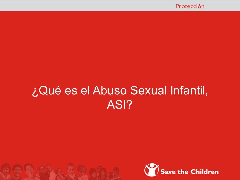 ¿Qué es el Abuso Sexual Infantil, ASI?
