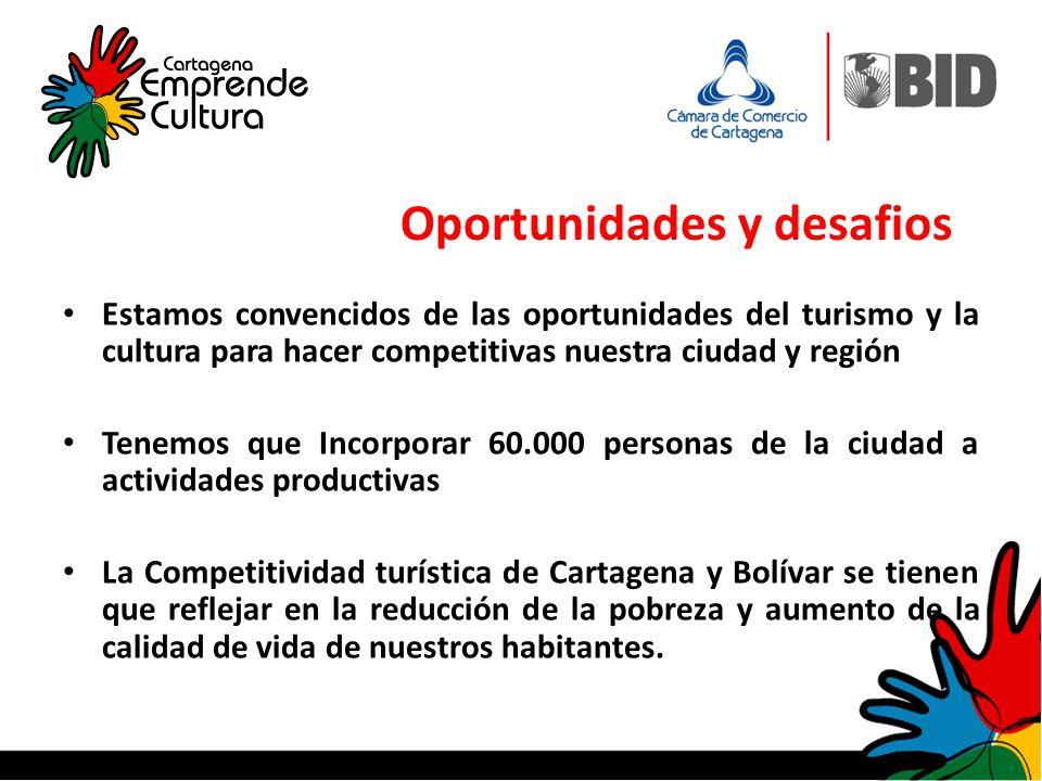 Estamos convencidos de las oportunidades del turismo y la cultura para hacer competitivas nuestra ciudad y región Tenemos que Incorporar 60.000 person