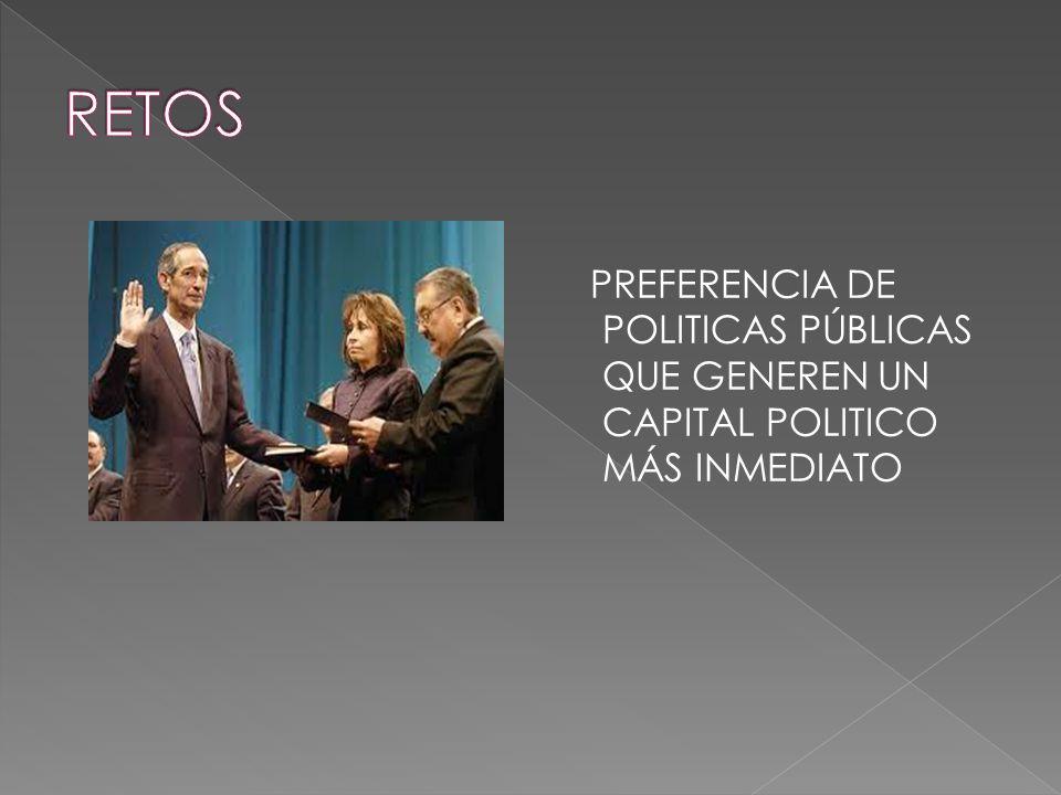 PREFERENCIA DE POLITICAS PÚBLICAS QUE GENEREN UN CAPITAL POLITICO MÁS INMEDIATO