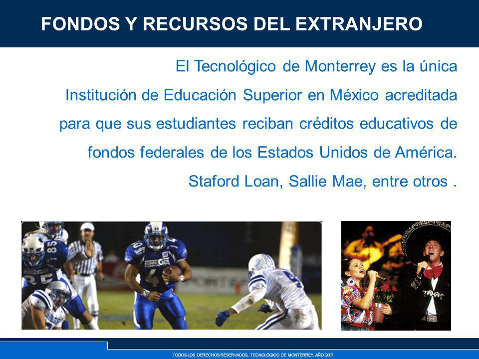 TODOS LOS DERECHOS RESERVADOS, TECNOLÓGICO DE MONTERREY, AÑO 2007 El Tecnológico de Monterrey es la única Institución de Educación Superior en México