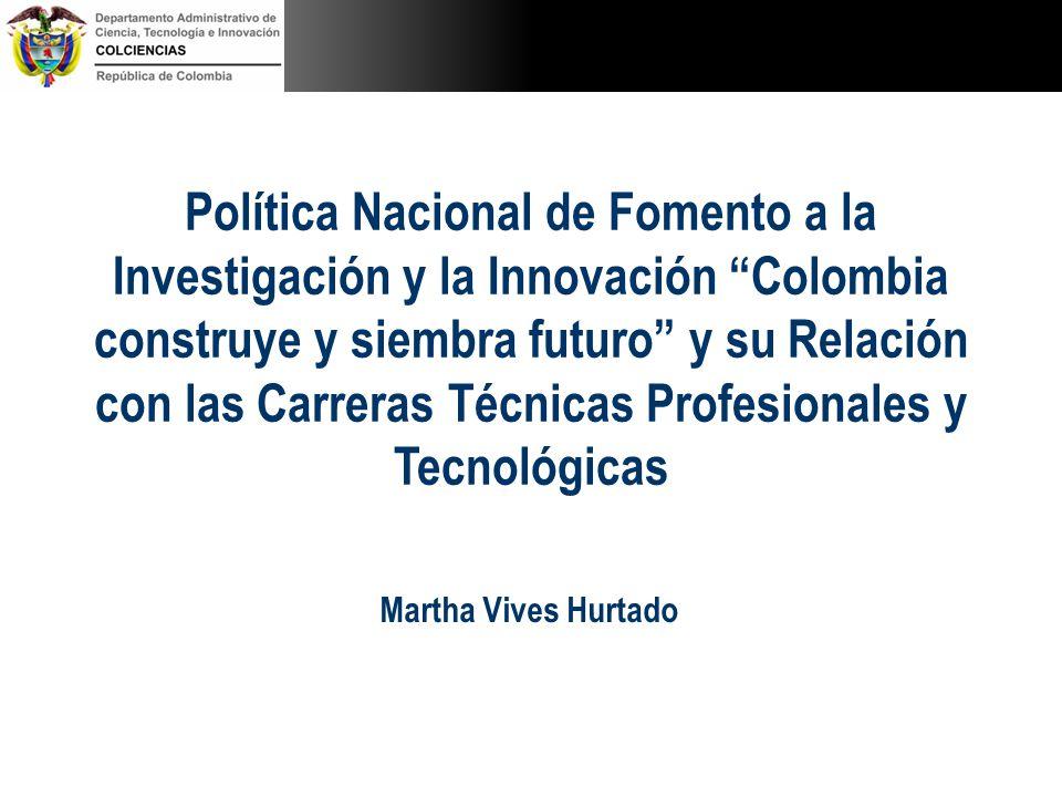 Política Nacional de Fomento a la Investigación y la Innovación Colombia construye y siembra futuro y su Relación con las Carreras Técnicas Profesiona